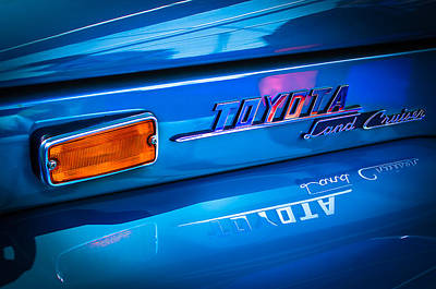 1970 Toyota Land Cruiser Fj40 Hardtop Emblem Print by Jill Reger