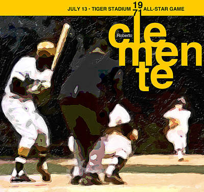 Roberto Clemente Digital Art - 1971 All Star Game by Ron Regalado