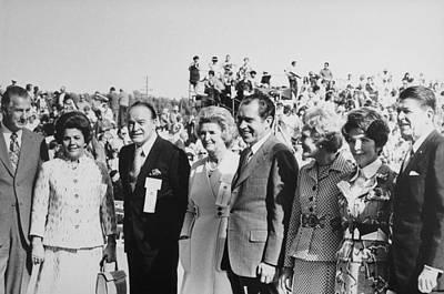 1971 Nixon Campaign Event Print by Everett