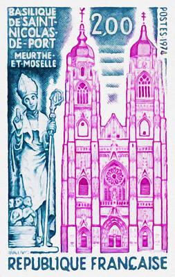Lacrosse Painting - 1974 Basilica Of St Nicolas-de-port Meurthe-et-moselle by Lanjee Chee