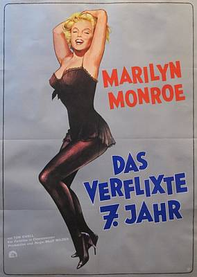 1974 German Marilyn Monroe Poster The Seven Year Itch  Original by Anonymous