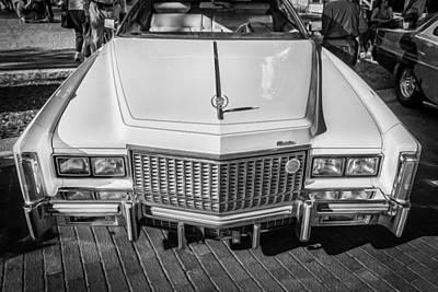 1976 Cadillac Eldorado Bw Print by Rich Franco