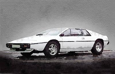 1976 Lotus Esprit Coupe Print by Naxart Studio