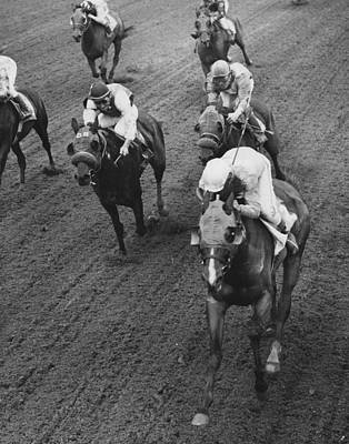 1978 Bridlespur At Suffolk Downs Horse Racing Print by Retro Images Archive
