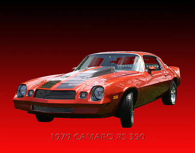 For The Kids Photograph - 1979 Camaro R S 350 by Jack Pumphrey
