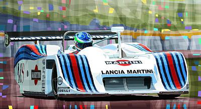 Mixed Media Mixed Media - 1982 Lancia Lc1 Martini by Yuriy  Shevchuk