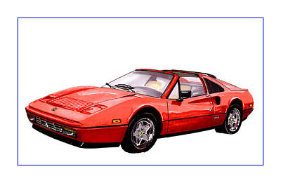 1986 Ferrari 328 Gts Print by Jack Pumphrey