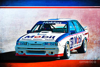 1987 Vl Commodore Group A Print by Stuart Row