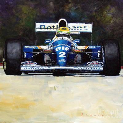 Racing Legend Painting - 1994 Ayrton Senna Williams Renault Fw16 by Yuriy Shevchuk