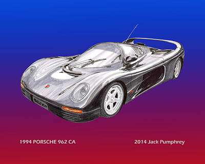 Prototype Digital Art - 1994 Porsche 962 C A by Jack Pumphrey