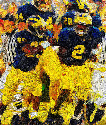 University Of Michigan Painting - 1997 What A Year by John Farr
