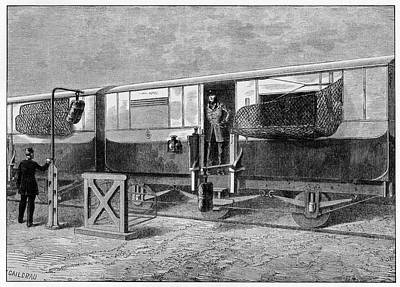 19th Century British Mail Train Print by Cci Archives