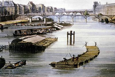 Raft Photograph - 19th Century Paris by Cci Archives