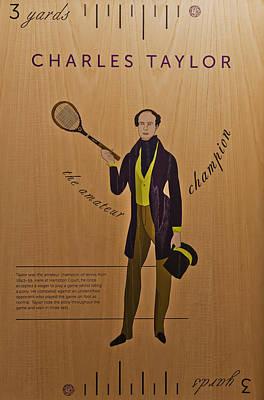 Aristocrat Mixed Media - 19th Century Tennis Player 3 by Maj Seda
