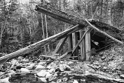 Old Montreal Photograph - 19th Century Timber Bridge - Boston And Maine Railroad New Hampshire Usa by Erin Paul Donovan