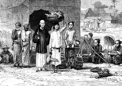 Vietnamese Photograph - 19th Century Vietnamese Market by Collection Abecasis