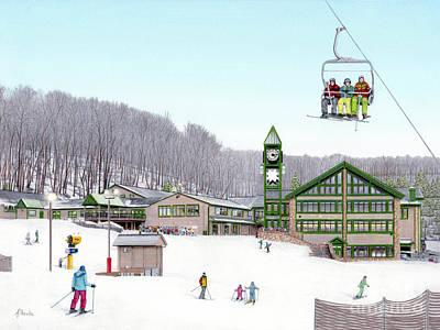 1st Snow At Hidden Valley Print by Albert Puskaric
