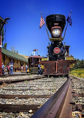 Iron Photograph -  Virginia And Truckee Gold Rush Train 22 by LeeAnn McLaneGoetz McLaneGoetzStudioLLCcom