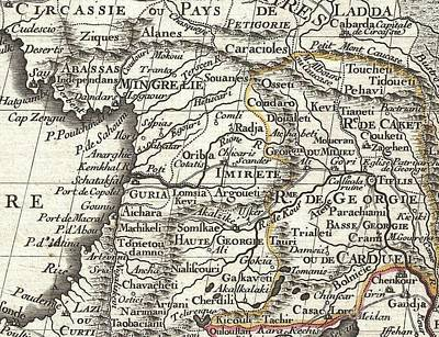 1724 De Lisle Map Of Persia Iran Iraq Afghanistan Print by Paul Fearn