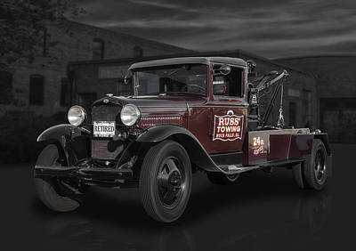 Aa Photograph - 1931 Ford Aa Wrecker  by Frank J Benz