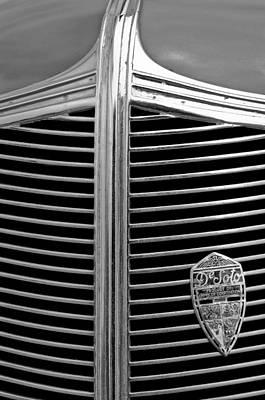 1936 Desoto Airstream Grille Emblem Print by Jill Reger