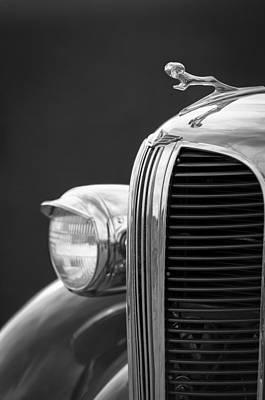 Car Photograph - 1938 Dodge Ram Grille - Hood Ornament by Jill Reger