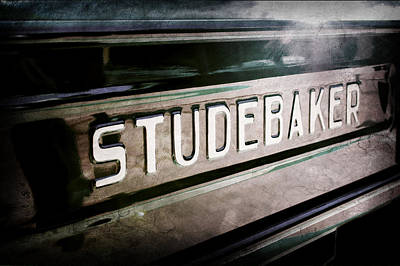 1948 Studebaker M15a Pickup Truck Tail Gate Emblem Print by Jill Reger