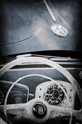 1951 Volkswagen Vw Beetle Cabriolet Steering Wheel Emblem - Hood Emblem Print by Jill Reger