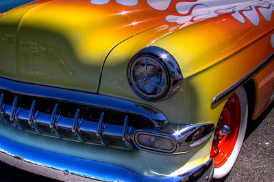 1954 Chevy Bel Air Custom Hot Rod Print by David Patterson