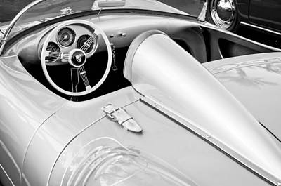 Black And White Photograph - 1955 Porsche Spyder by Jill Reger