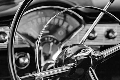 1956 Chevrolet Belair Steering Wheel Print by Jill Reger