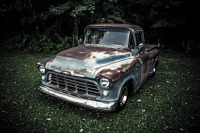 56 Chevy Pickup Photograph - 1956 Chevy 3100 by Mark Maloney