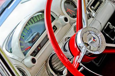 1956 Ford Thunderbird Steering Wheel Print by Jill Reger