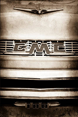 1956 Gmc 100 Deluxe Edition Pickup Truck Emblem Print by Jill Reger