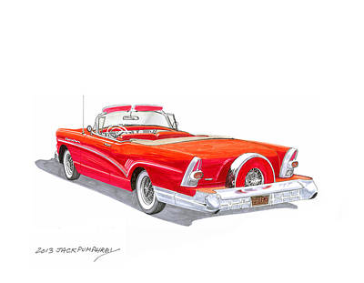 Buick Painting - 1957 Buick Special Convertible by Jack Pumphrey