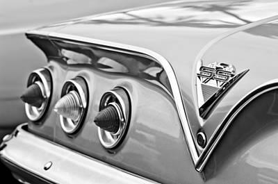 1961 Photograph - 1961 Chevrolet Ss Impala Tail Lights by Jill Reger