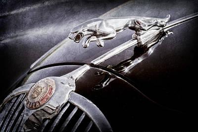 Car Photograph - 1964 Jaguar Mk2 Saloon Hood Ornament And Emblem by Jill Reger