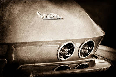 Sting Photograph - 1967 Chevrolet Corvette Taillight by Jill Reger