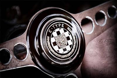 1967 Jaguar E-type Series I 4.2 Roadster Steering Wheel Emblem Print by Jill Reger