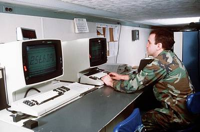 1980s Photograph - 1980s Military Computing by Us Air Force