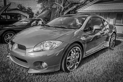 Special Edition Photograph - 2006 Mitsubishi Eclipse Gt V6 Painted Bw by Rich Franco