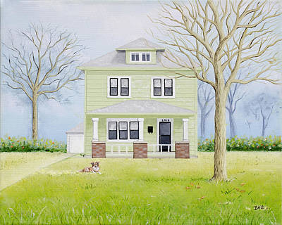 55th Street House Original by Christine Belt