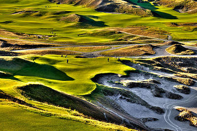 #9 At Chambers Bay Golf Course Print by David Patterson