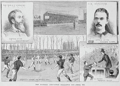 A Football Match Print by British Library