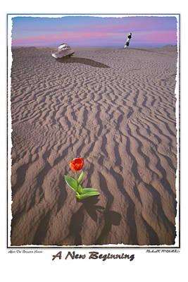 Tulip Digital Art - A New Beginning by Mike McGlothlen