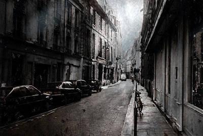Dark Digital Art - A Walk Apart by David Fox