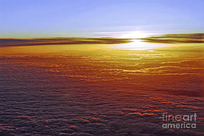 Airline Photograph - Above The Clouds by Elena Elisseeva