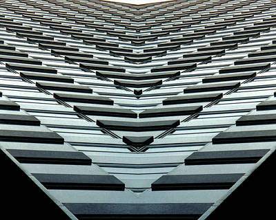 Vibrant Photograph - Abstract Buildings 7 by J D Owen