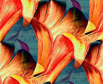 Mark Moore Painting - Abstract Floral by Mark Moore