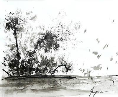 Fashion Abstract Art Drawing - Modern Abstract Black Ink Art by Patricia Awapara